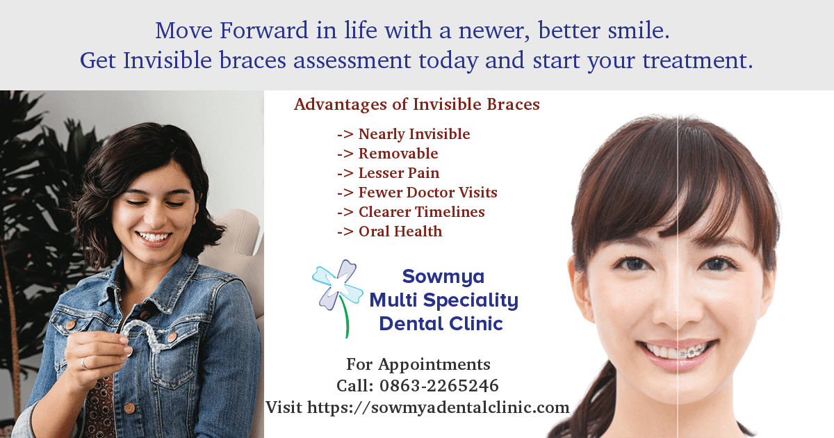 Invisble Braces vs Normal Brace- Sowmya Dental Clinic