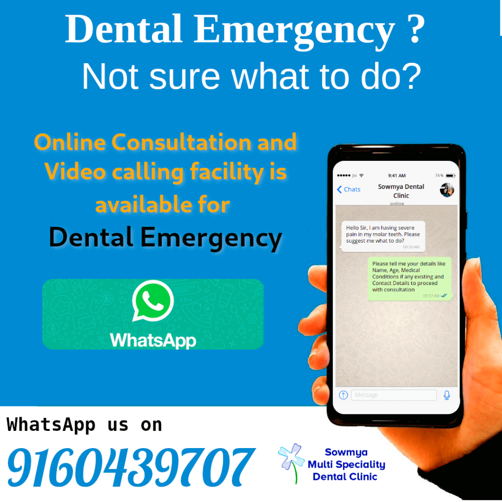 Tele Medicine and Tele Dentistry Services Offered by Sowmya Dental Clinic, Guntur