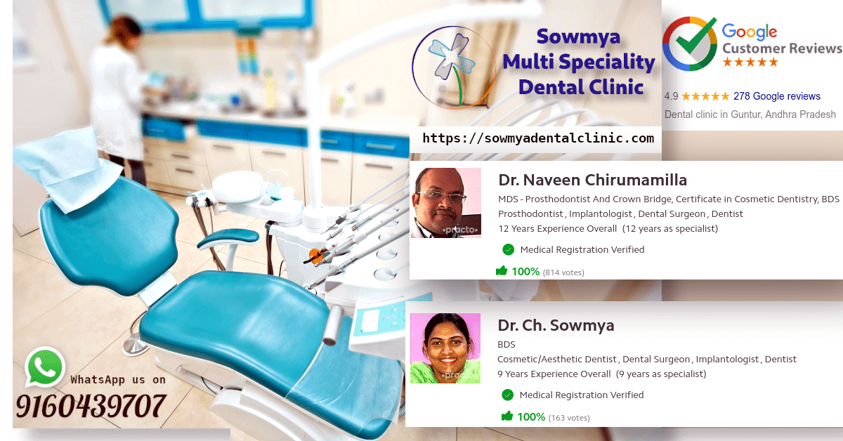 best, trusted and most famous dentist in guntur city, andhra pradesh